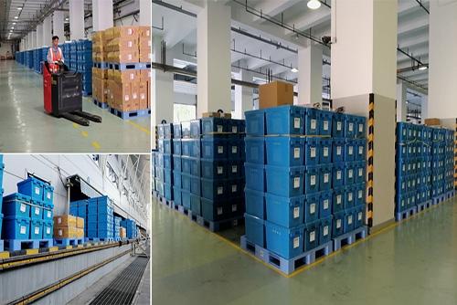 富事达为江苏省烟草公司提供塑料周转箱应用