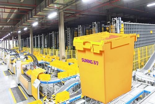 富事达为京东商城电子商务提供物流塑料周转箱应用